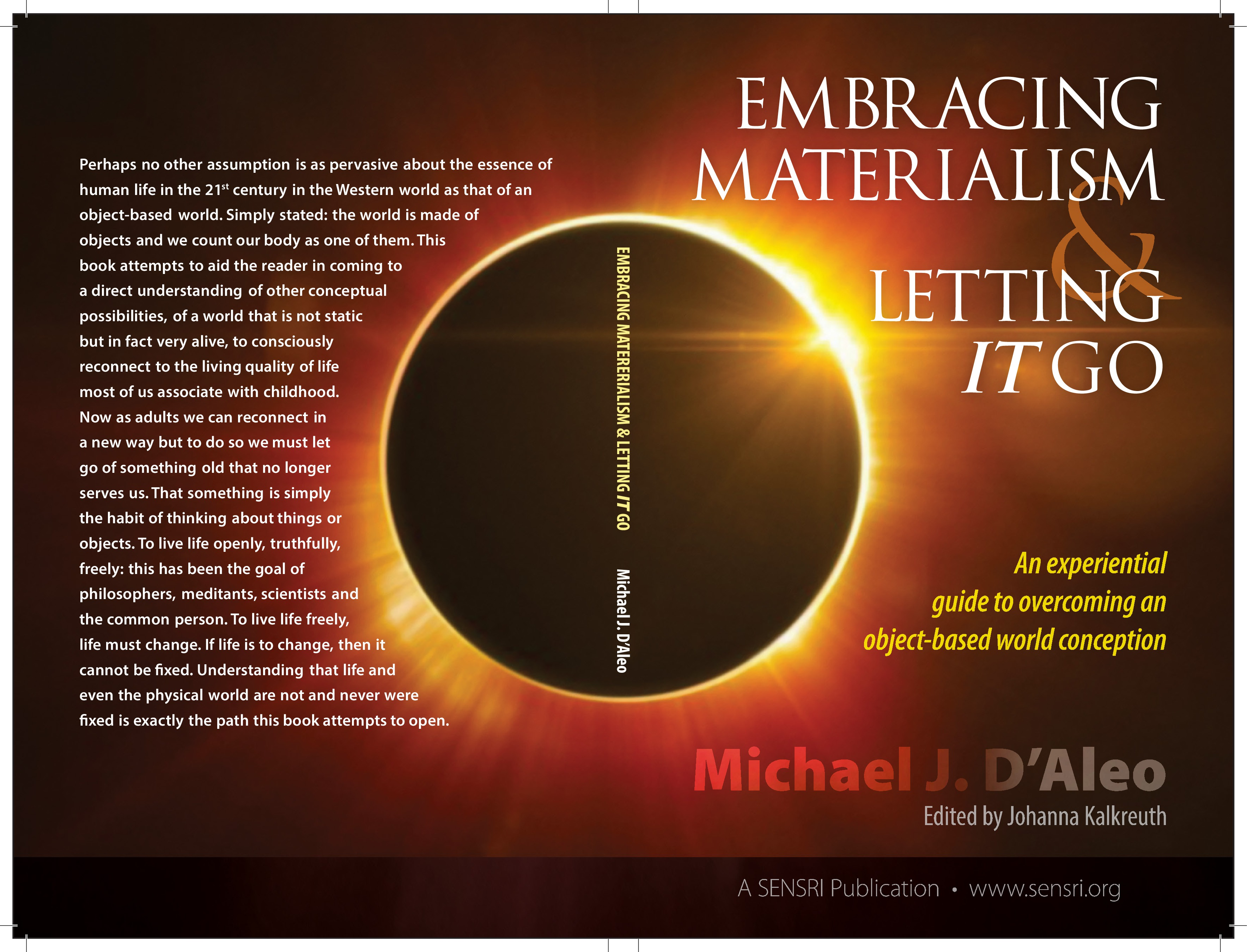 Embracing Materialism and Letting It Go: An experiential guide to overcoming an object-based world conception by Michael J. D'Aleo